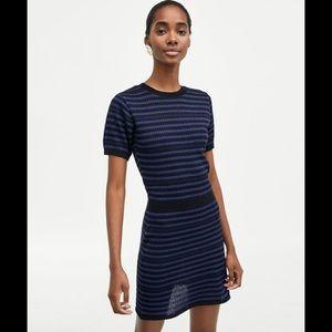 NWT Zara Knit Jersey Stripped Dress size medium